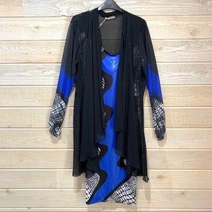 European Verda Dress & Duster Set sz46